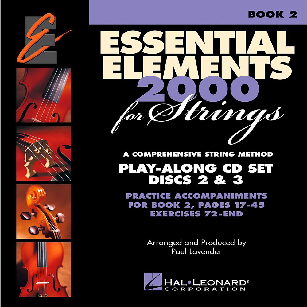 Hal Leonard Essential Elements For Strings Play Along CD Set (Book 2, Disc 2 and 3 )