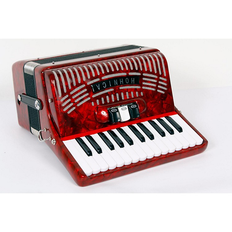 Hohner 48 Bass Entry Level Piano Accordion Red 888365722481