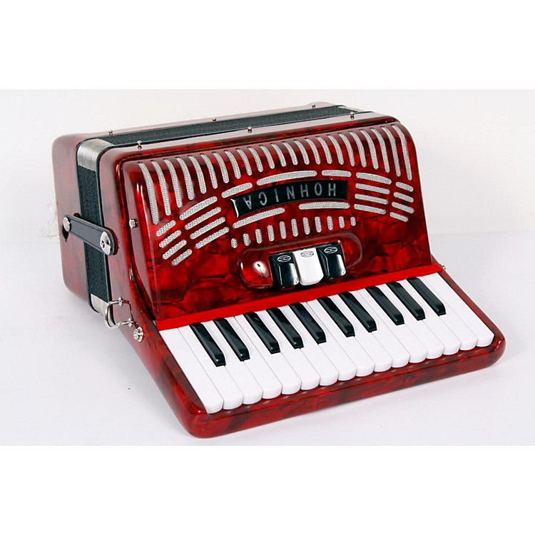 Hohner 48 Bass Entry Level Piano Accordion Red 888365722535
