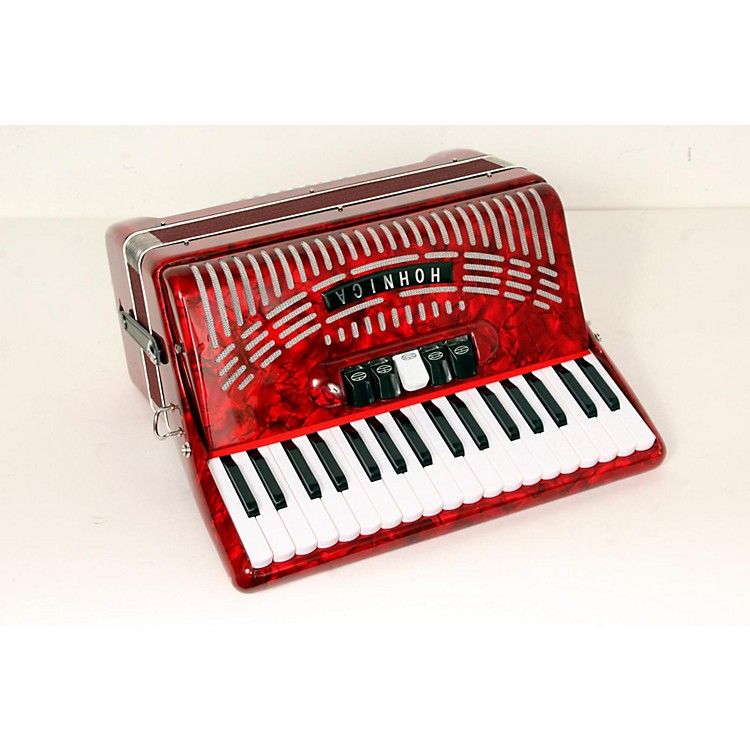 Hohner 48 Bass Entry Level Piano Accordion Red 888365778457