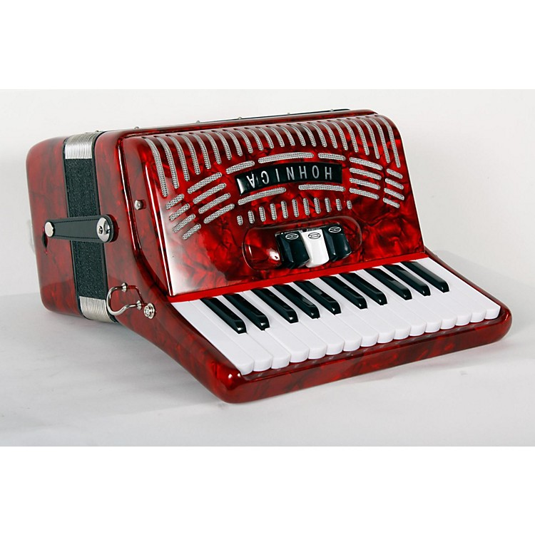 Hohner 48 Bass Entry Level Piano Accordion Red 888365851983