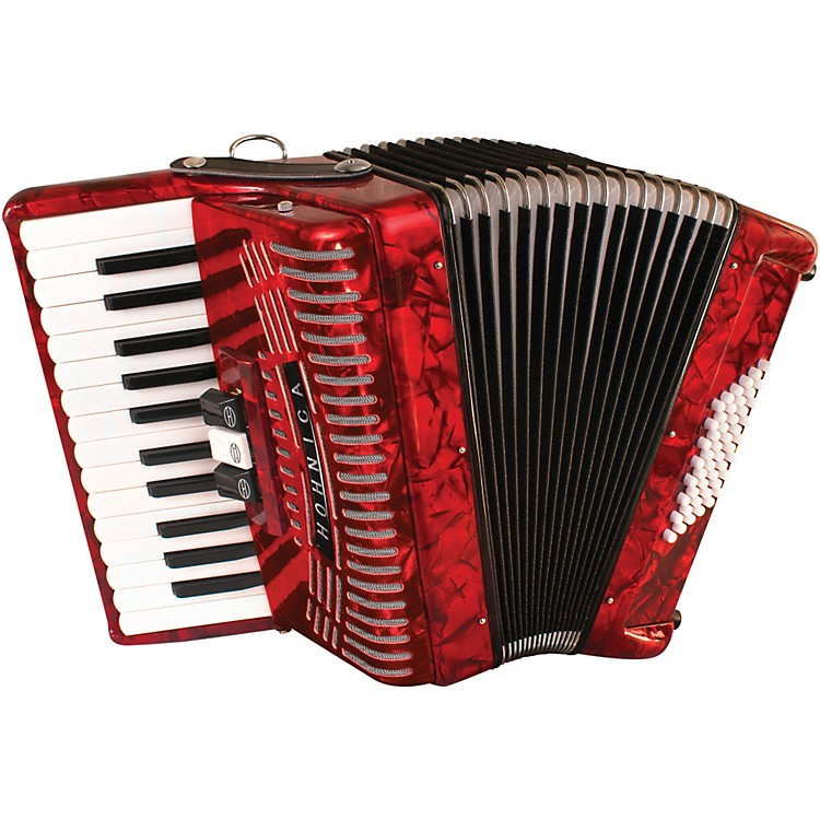 Hohner 48 Bass Entry Level Piano Accordion Red