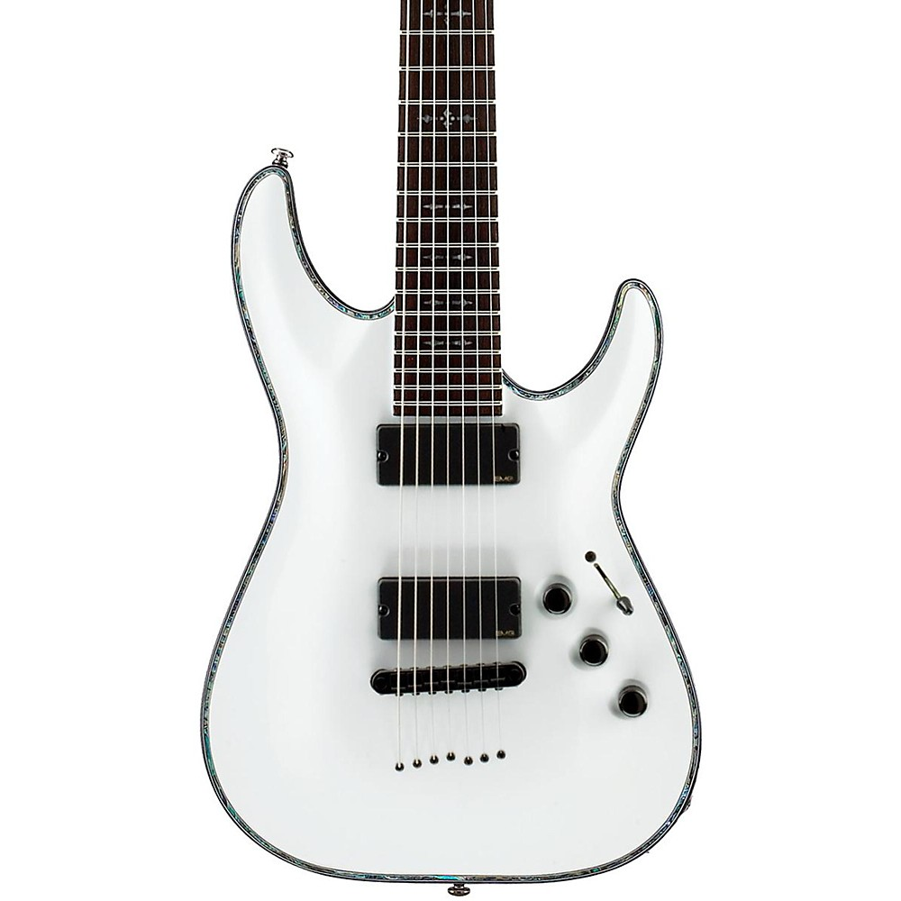 schecter hellraiser c 7 7 string electric guitar white 839212005783 ebay. Black Bedroom Furniture Sets. Home Design Ideas