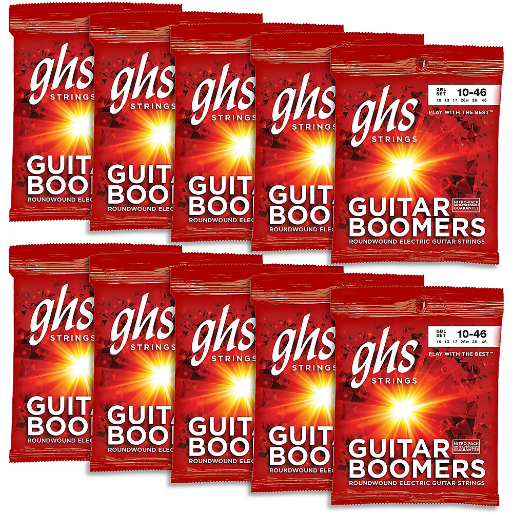 ghs boomers light roundwound electric guitar strings 10 pack ebay. Black Bedroom Furniture Sets. Home Design Ideas