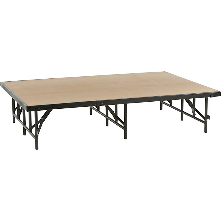 Midwest Folding Products 4x6 Single-Height Portable Stage & Seated Riser 16 in. High, Hardboard
