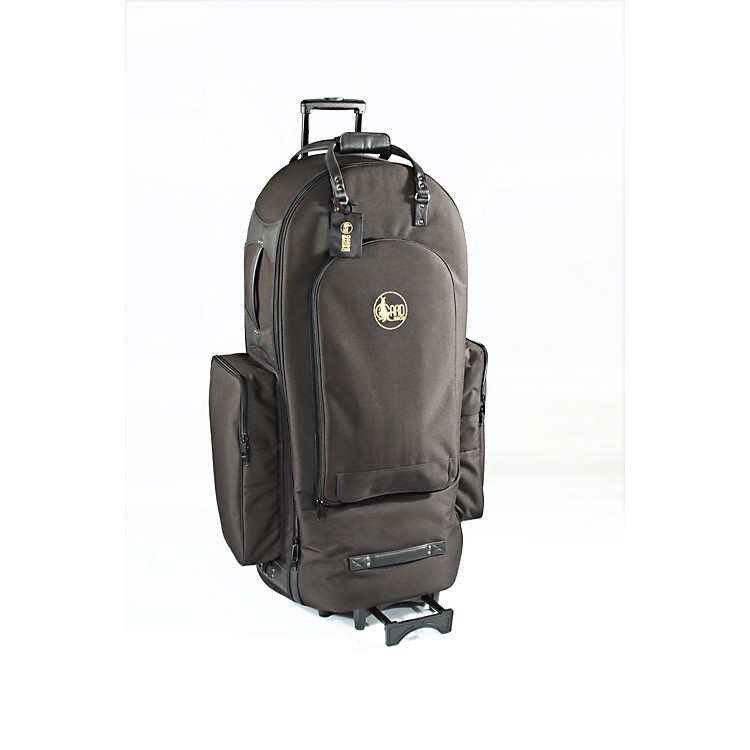 Gard 5/4 Tuba Wheelie Bag 65-WBFLK Black Ultra Leather