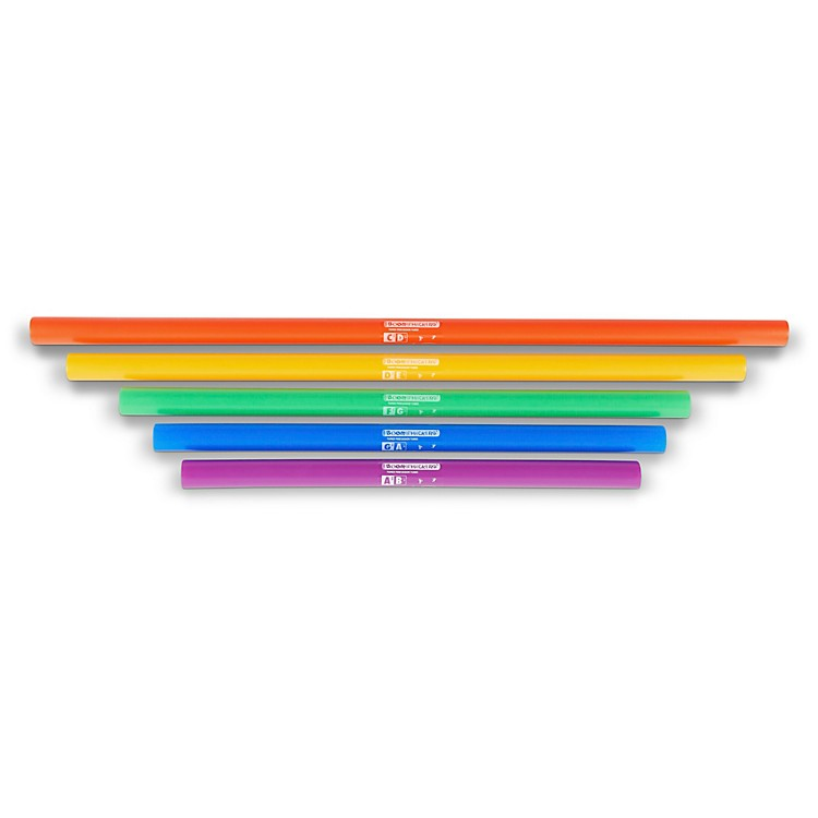 BOOMWHACKERS5-Note Bass Chromatic Set (Lower Octave) Boomwhackers Tuned Percussion Tubes
