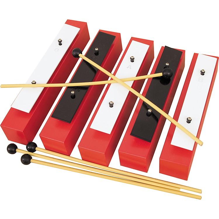 Rhythm Band5 Note Chromatic Wooden Bass Bell Set