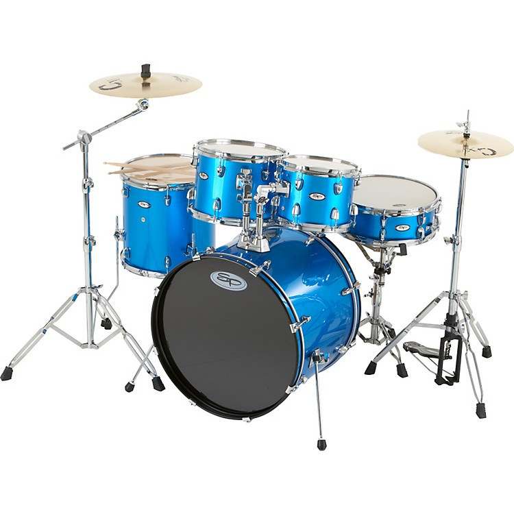 Sound Percussion 5-Piece Fusion Drum Set Blue