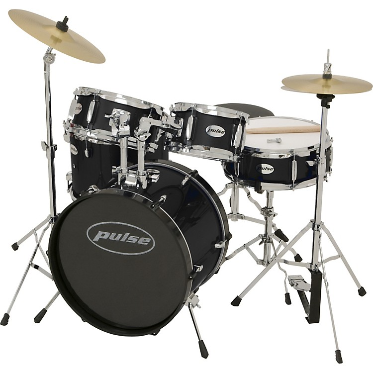 Pulse 5-Piece Junior Drum Set Black