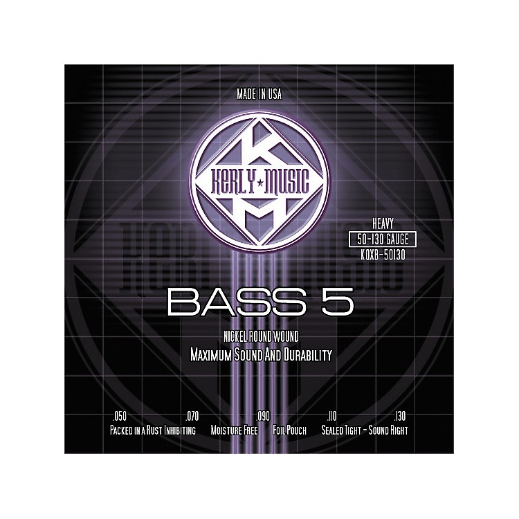 Kerly Music5-String Bass Guitar Strings - Heavy Nickel Plated