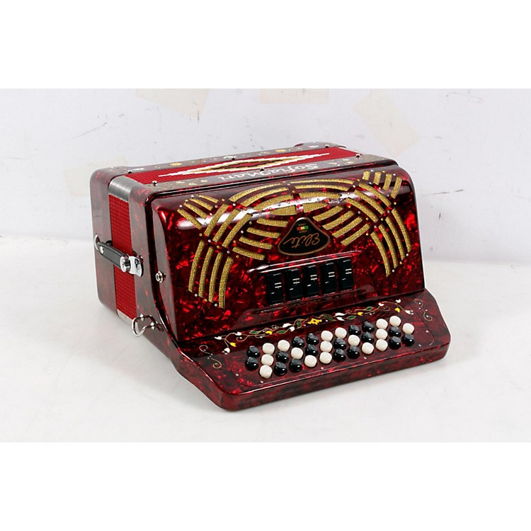 SofiaMari 5-Switch Accordion Red Pearl 886830994074