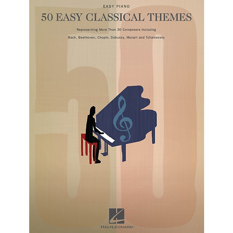 Hal Leonard50 Easy Classical Themes For Easy Piano
