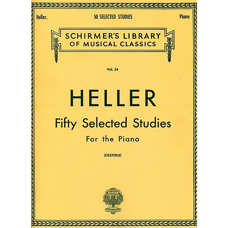 G. Schirmer50 Selected Studies for Piano By Heller