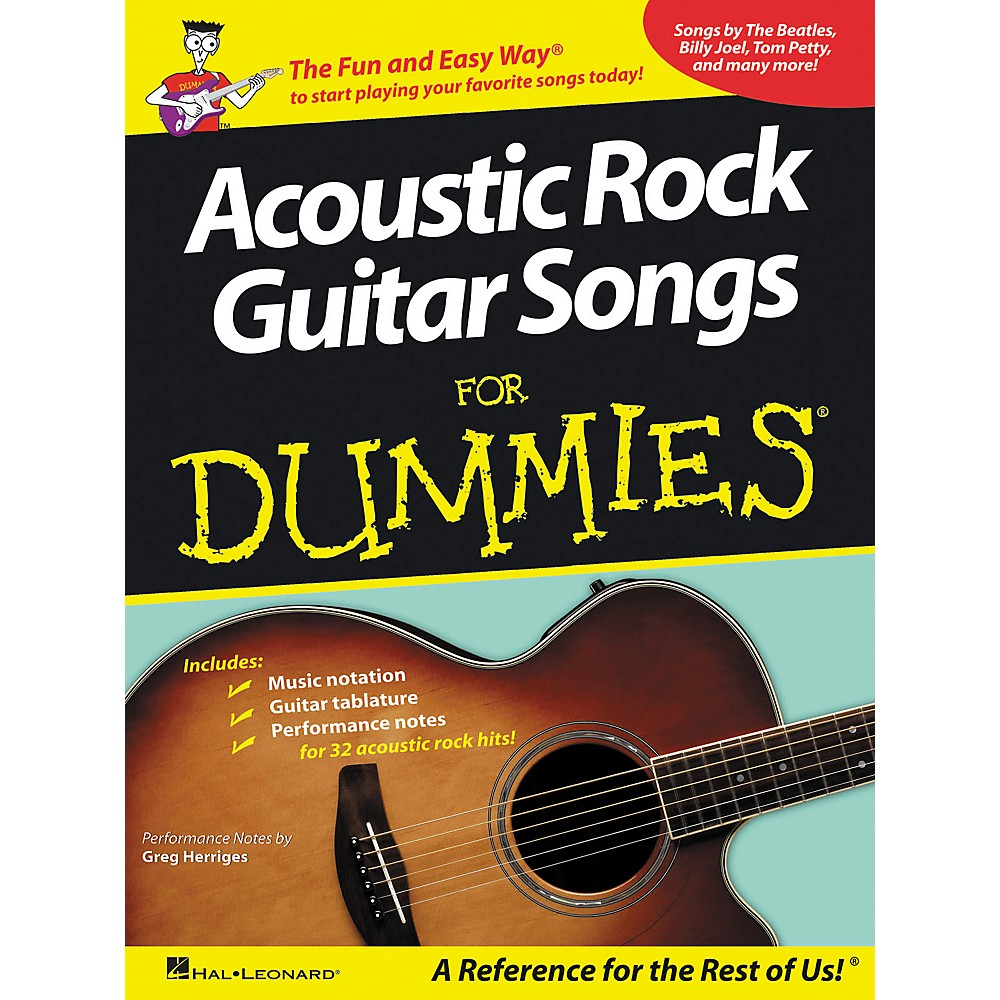 Hal Leonard Acoustic Rock Guitars for Dummies