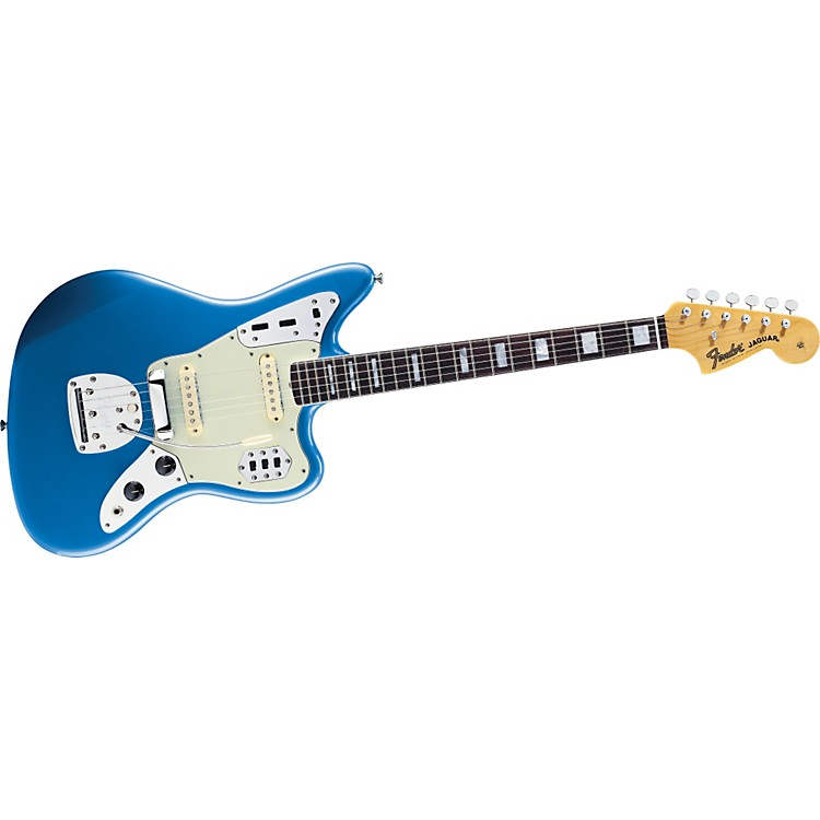 Fender 50th Anniversary Jaguar Electric Guitar Lake Placid Blue Rosewood Fingerboard