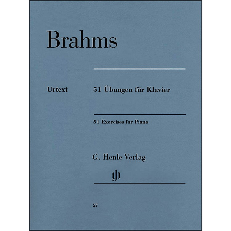 G. Henle Verlag51 Exercises for Piano By Brahms