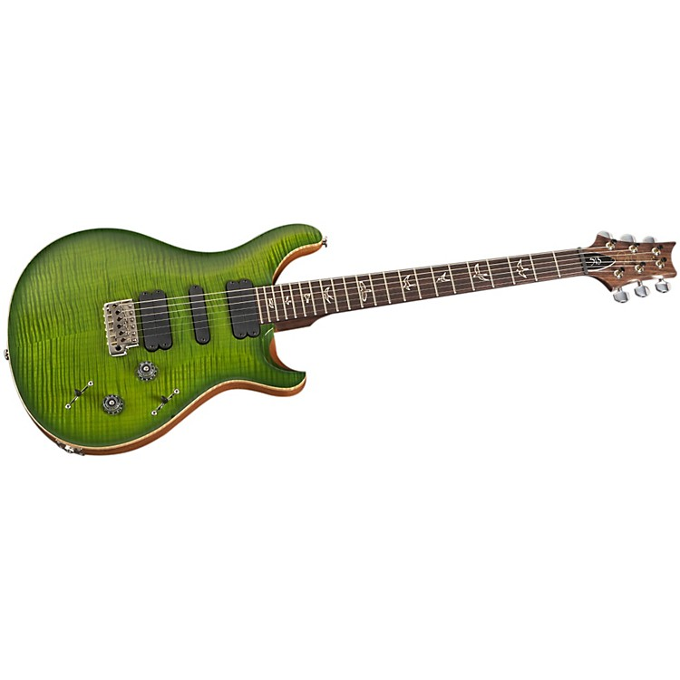 PRS 513 Flame 10-Top with Rosewood Neck Electric Guitar Eriza Verde