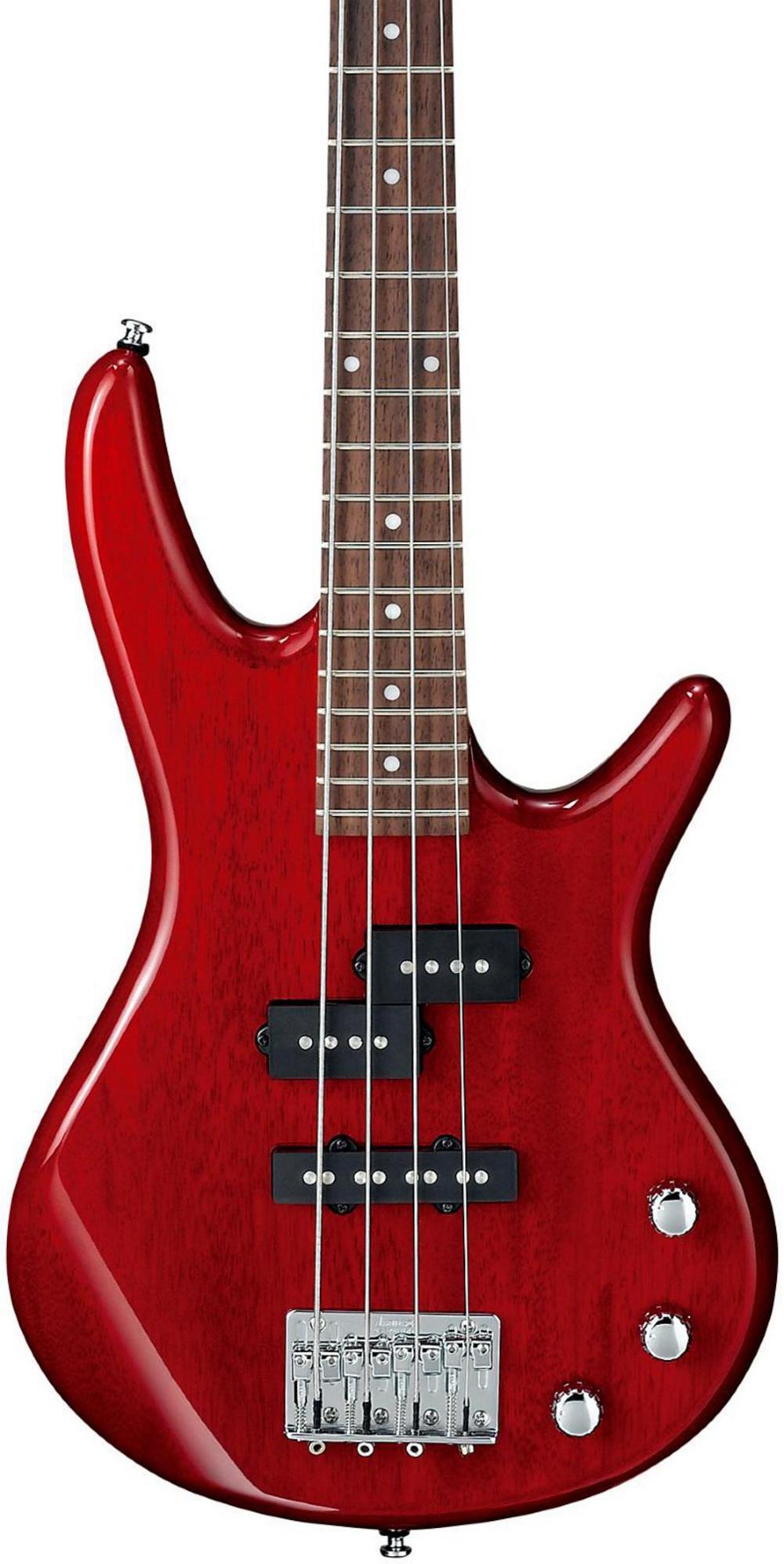 ibanez gsrm20 mikro short scale bass guitar transparent red rosewood. Black Bedroom Furniture Sets. Home Design Ideas