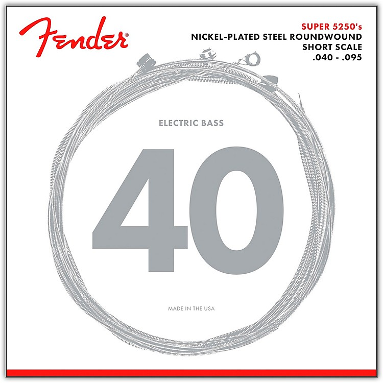 Fender5250XL Nickel-Plated Steel Short Scale Bass Strings - Extra Light