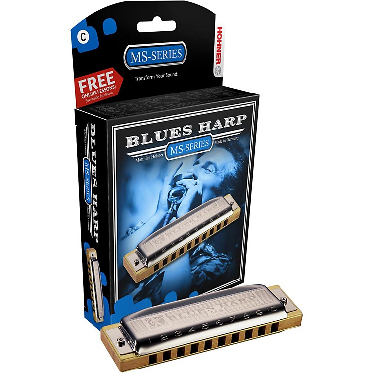 Hohner 532 Blues Harp MS-Series Harmonica Bb