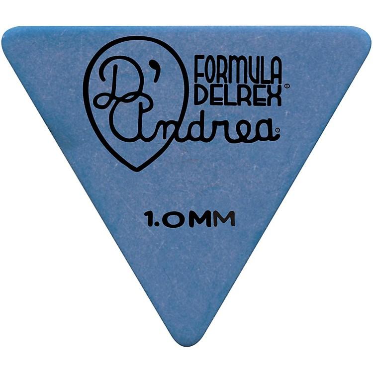 D'Andrea55 Triangle Delrex Delrin Guitar Picks One DozenBlue1.0MM