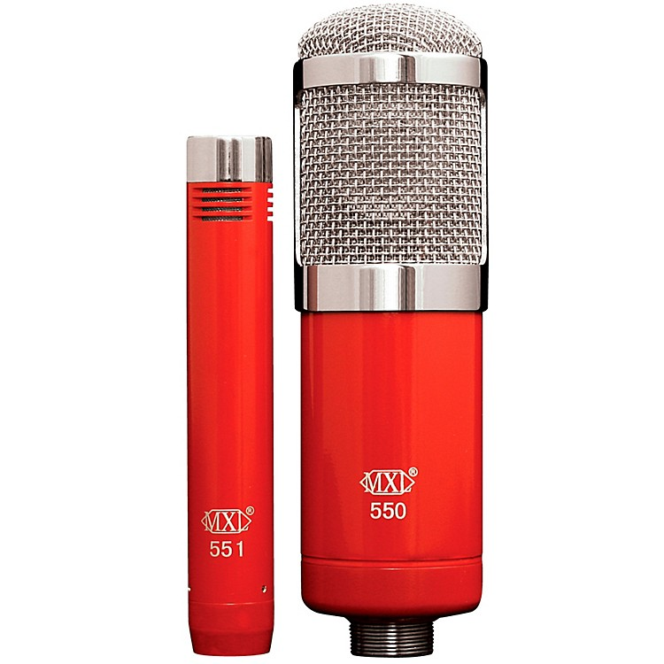 MXL 550/551R Studio Microphone Kit Red