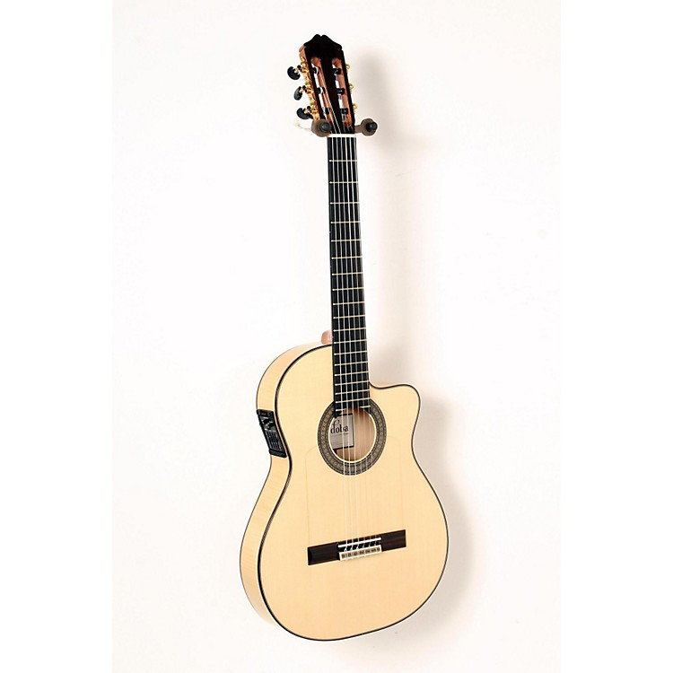 Cordoba 55FCE Acoustic-Electric Nylon String Flamenco Guitar Natural Blonde 888365837413