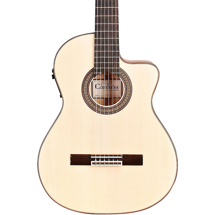 Cordoba 55FCE Acoustic-Electric Nylon String Flamenco ...