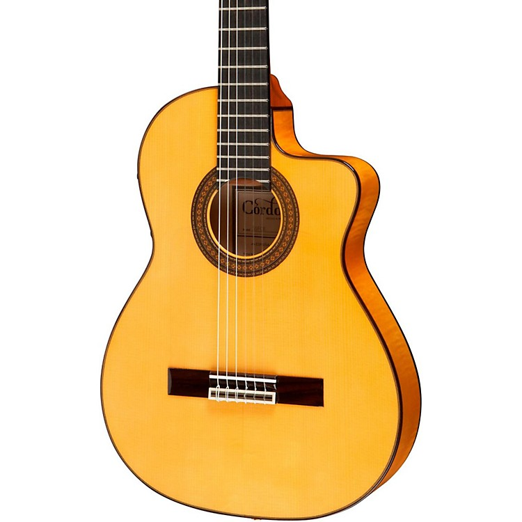 Cordoba55FCE Thinbody Acoustic-Electric Nylon String Flamenco Guitar