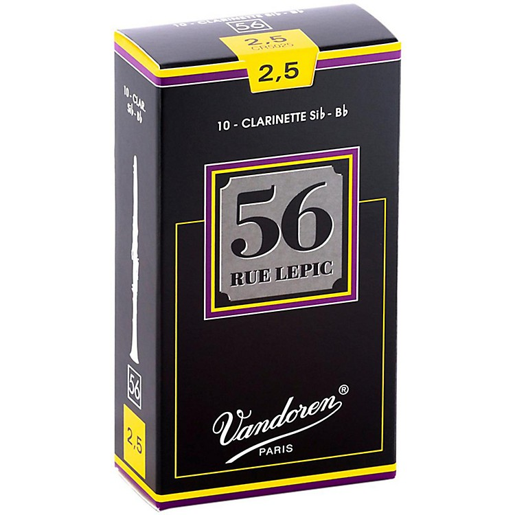 Vandoren 56 Rue Lepic Bb Clarinet Reeds Strength 2.5 Box of 10