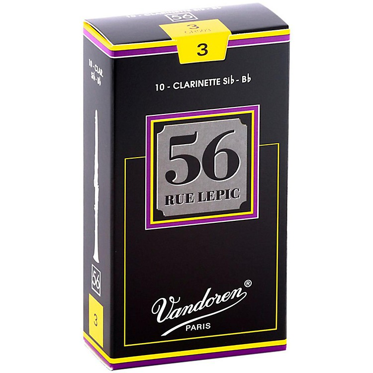 Vandoren 56 Rue Lepic Bb Clarinet Reeds Strength 3 Box of 10