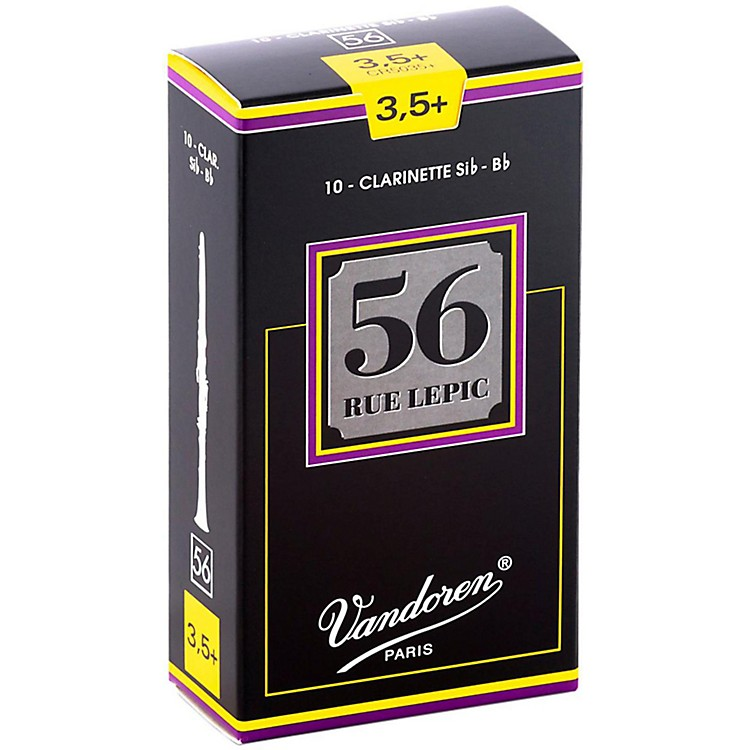 Vandoren 56 Rue Lepic Bb Clarinet Reeds Strength 3.5+ Box of 10