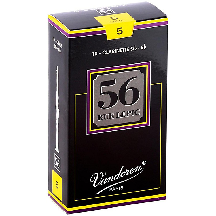 Vandoren 56 Rue Lepic Bb Clarinet Reeds Strength 5 Box of 10