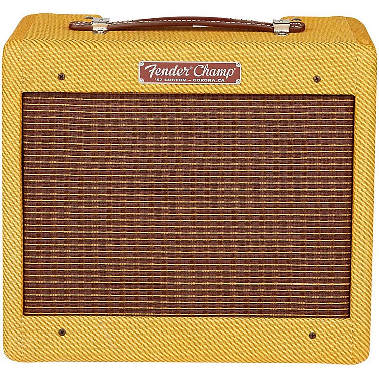 Fender '57 Custom Champ 5W 1x8 Tube Guitar Amp Lacquered Tweed