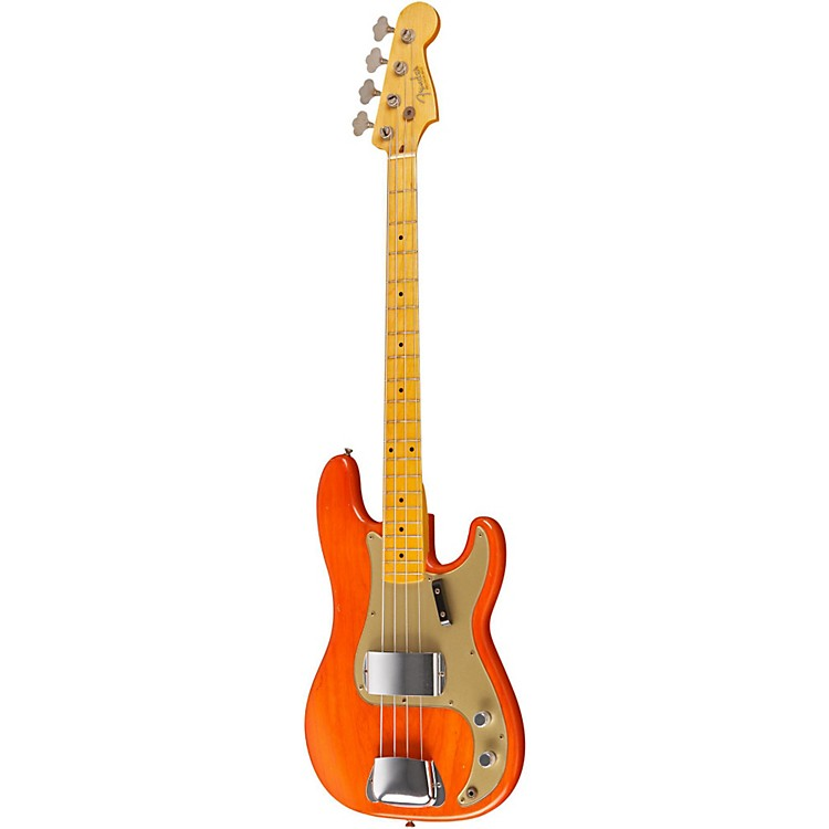Fender Custom Shop '57 Precision Bass Relic Electric Bass Guitar Master Built by Dale Wilson Transparent Gretsch Orange