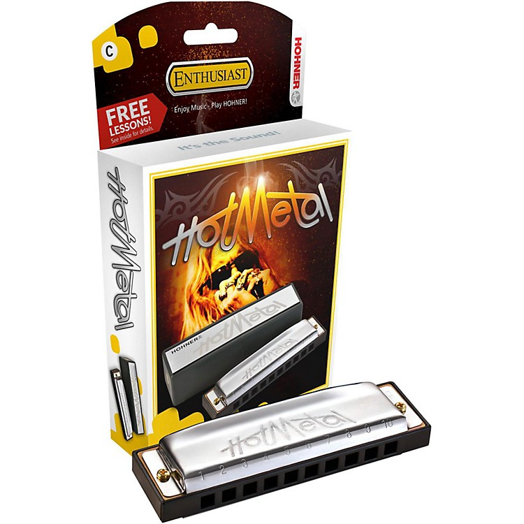 Hohner 572 Hot Metal Harmonica F
