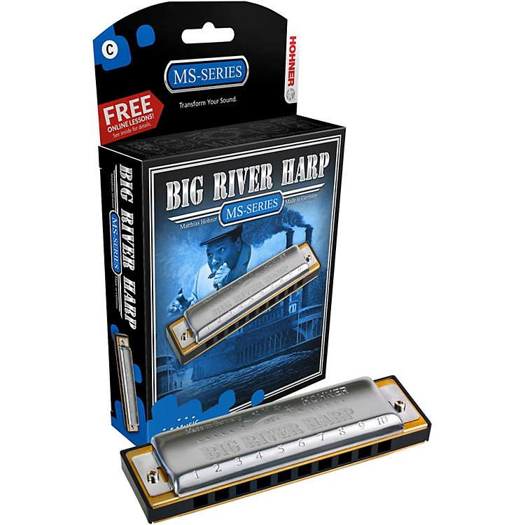 Hohner 590 Big River MS-Series Harmonica F#/Gb