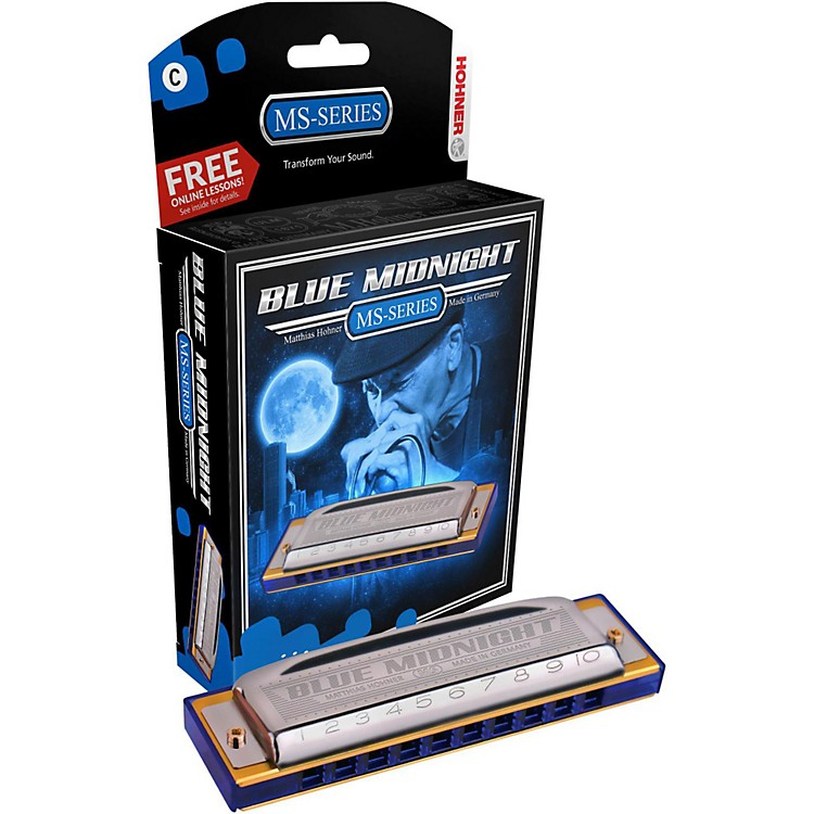Hohner 595BL Blue Midnight Harmonica Key of G