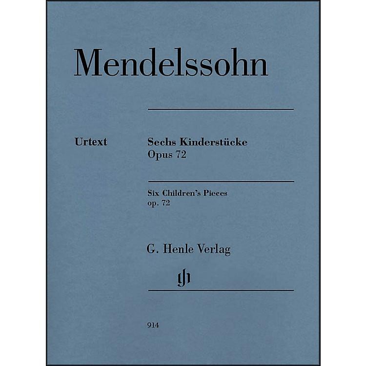 G. Henle Verlag6 Children's Pieces Op. 72 for Piano Solo By Mendelssohn