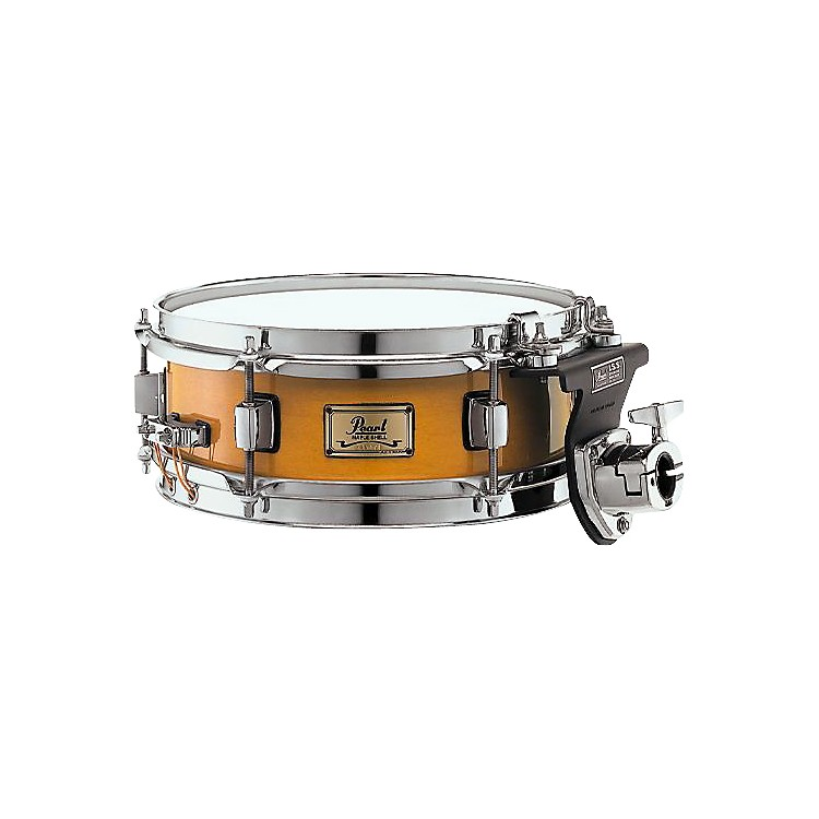 Pearl 6-Ply Maple Shell Snare Drum with ISS Mount Liquid Amber 10 x 4 in.