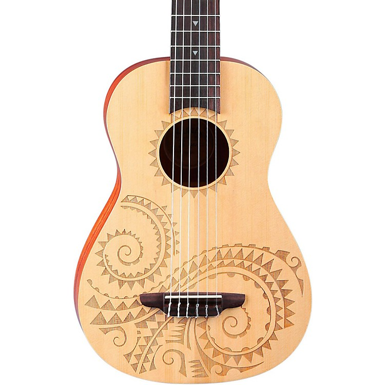 Luna Guitars 6-String Baritone Ukulele Tattoo