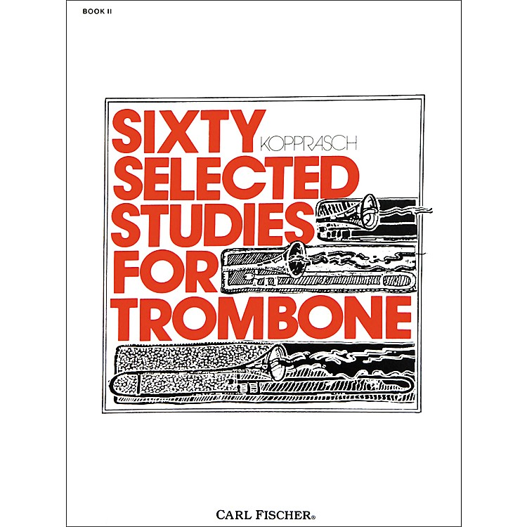 Carl Fischer 60 Selected Studies for Trombone Book 2