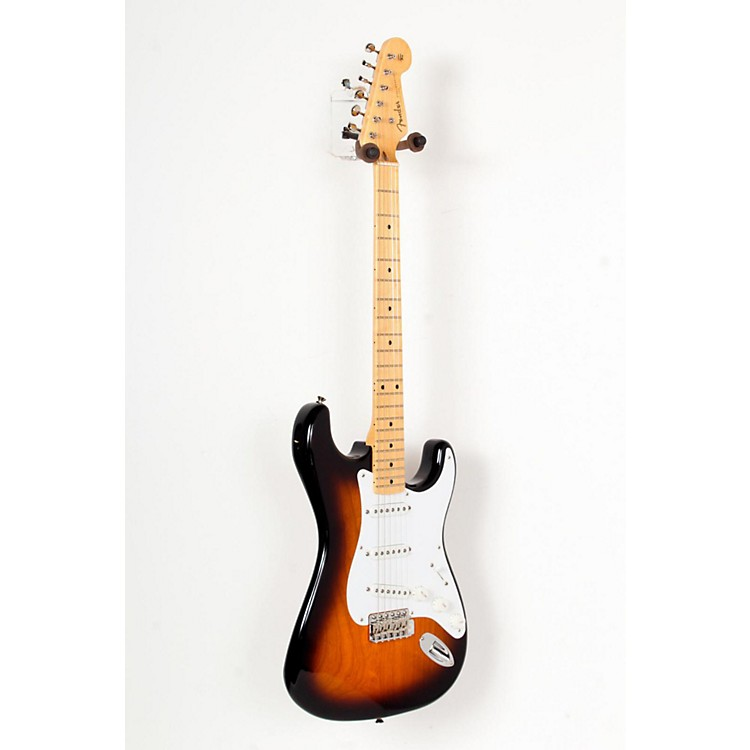 Fender 60th Anniversary American Vintage 1954 Stratocaster Electric Guitar 2-Color Sunburst, Maple Fingerboard 888365726953