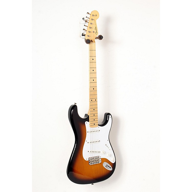 Fender 60th Anniversary American Vintage 1954 Stratocaster Electric Guitar 2-Color Sunburst, Maple Fingerboard 888365848150