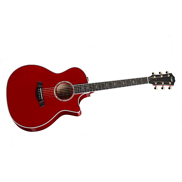 Taylor 614ce Maple/Spruce Grand Auditorium Acoustic-Electric Guitar Red