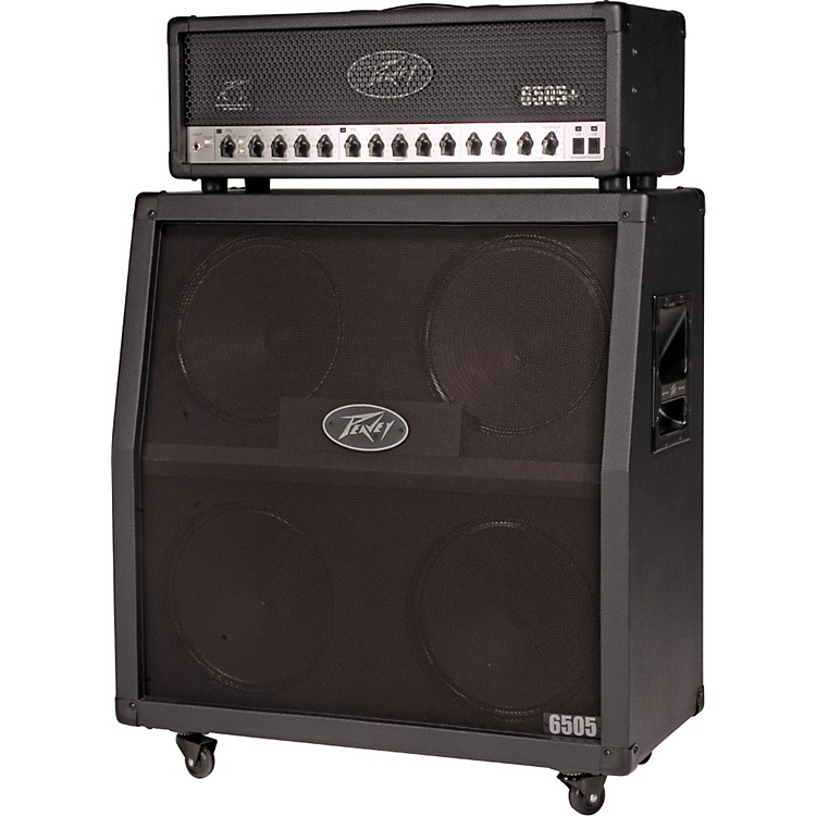 Peavey 6505+ 120W Tube Guitar Amp Head and 300W 4x12 Speaker Cab Half Stack Straight