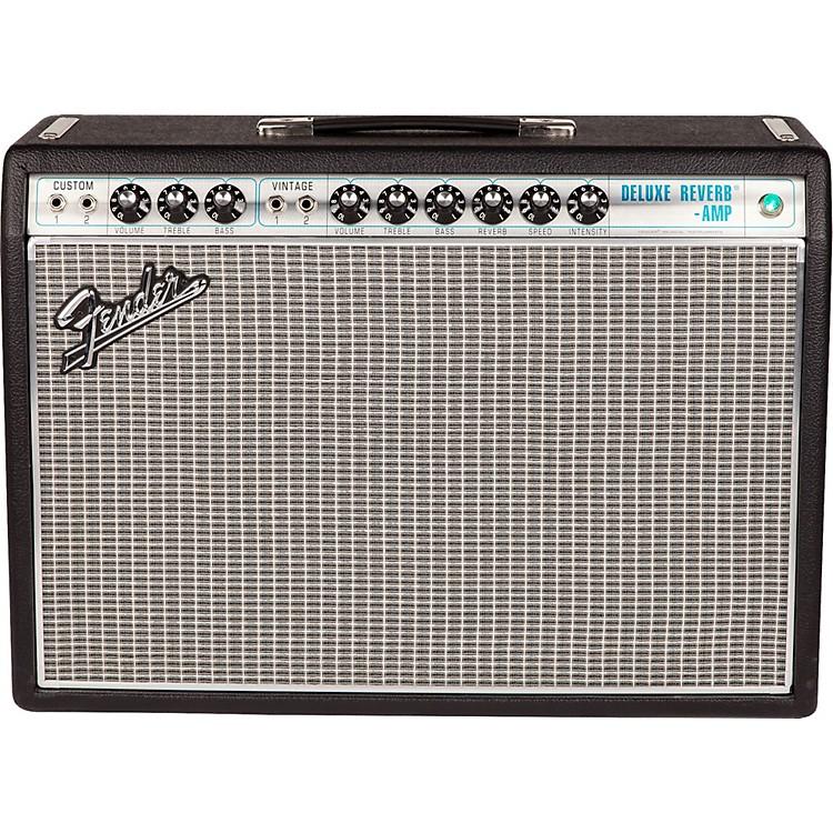 Fender'68 Custom Deluxe Reverb 22W 1x12 Tube Guitar Combo Amp with Celestion G12V-70 SpeakerBlack