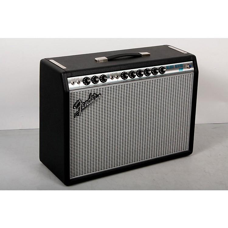 Fender'68 Custom Deluxe Reverb 22W 1x12 Tube Guitar Combo Amp with Celestion G12V-70 SpeakerBlack888365846453