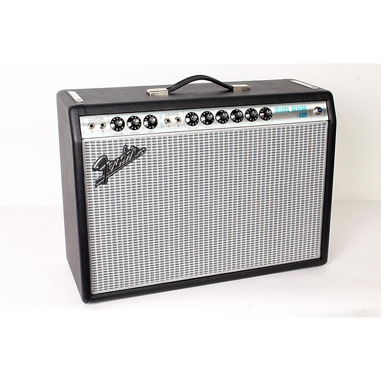 Fender '68 Custom Deluxe Reverb 22W 1x12 Tube Guitar Combo Amp with Celestion G12V-70 Speaker Black 888365903071